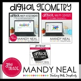 Third Grade Digital Math Geometry Bundle | Distance Learning
