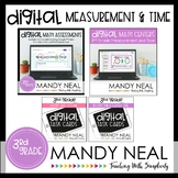 Third Grade Digital Math Measurement and Time Bundle
