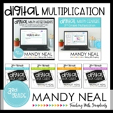 Third Grade Digital Math Multiplication Bundle | Distance
