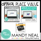 Third Grade Digital Math Place Value Bundle | Distance Learning