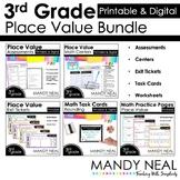 Third Grade Digital Math Place Value Bundle   Distance Learning