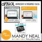 Third Grade Digital Math Represent and Interpret Data Bundle