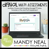 Third Grade Digital Self-Grading Division Math Assessments