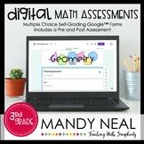 Third Grade Digital Self-Grading Geometry Math Assessments