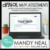 Third Grade Digital Self-Grading Place Value Math Assessme