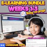 Third Grade Distance Learning - 3 Week Bundle - Google Lan