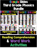 Third Grade Distance Learning Reading Comprehension & Word Work for Google (RTI