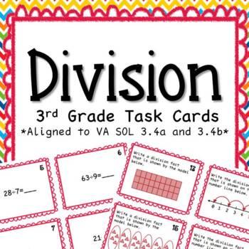 Third Grade Division Task Cards