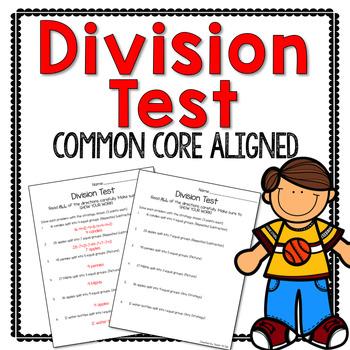 Third Grade Division Test
