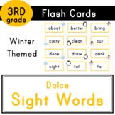 Third Grade - Dolce Sight Words - 41 Winter Themed Flash Cards