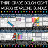 Dolch Third Grade Sight Words Year-Long Activity Bundle