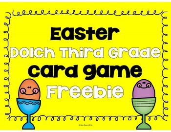 Third Grade Dolch Game Easter FREEBIE