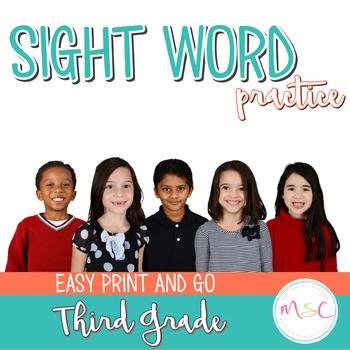 Sight Word Practice -- Third Grade
