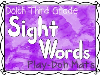 Third Grade Dolch Sight Words Play-Doh Mats