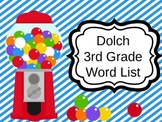 Third Grade Dolch Sight Words PowerPoint