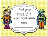 Third Grade Dolch Super Sight Words Progress & Assessment Pack