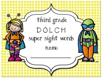 Third Grade Dolch Super Sight Words Progress & Assessment Pack
