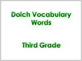 Third Grade Dolch Vocabulary Sight Words PowerPoint and Fl