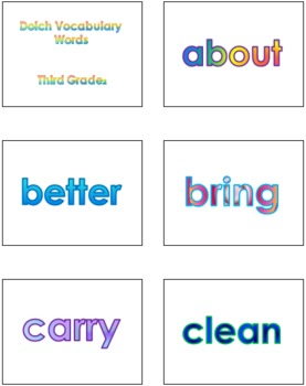 Third Grade Dolch Vocabulary Sight Words PowerPoint and Flash Cards #2