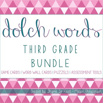 Third Grade Dolch Word BUNDLE + 2 FREEBIES