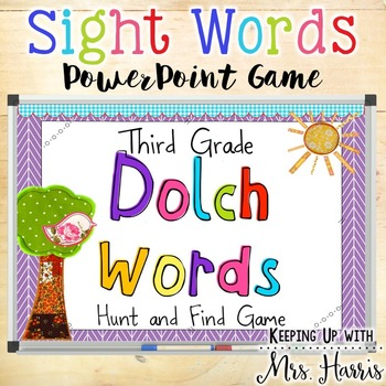 Third Grade Dolch Words - Sight Word Hunt PowerPoint Game