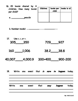 Third Grade EDM Cumulative Assessments