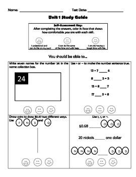 Third Grade EDM Units 1-11 Study Guides