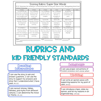 Reading Assessments for Common Core BUNDLE - Assessments/Kid Friendly Objectives