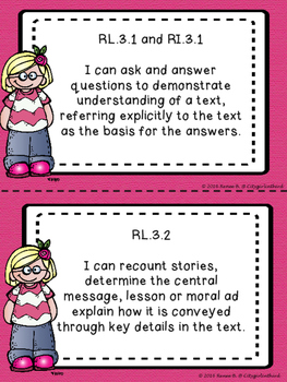Third Grade ELA Common Core I Can Standards
