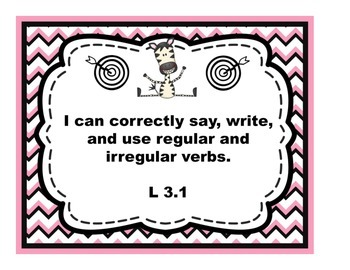 Third Grade ELA Common Core Learning Target Posters in Stu