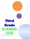 Common Core Checklist Third Grade ELA and Math