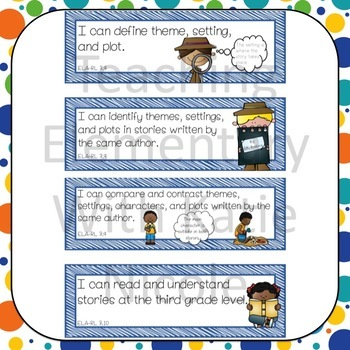 Third Grade ELA I Can Statements