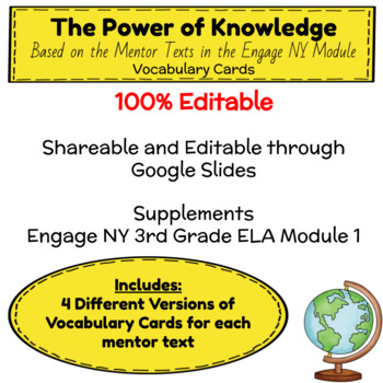 Engage NY Third Grade ELA Module 1 Vocabulary Journal