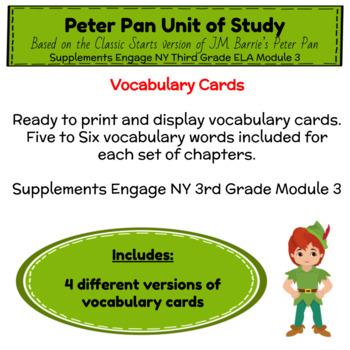 Engage NY Third Grade ELA Module 3 Vocabulary Cards