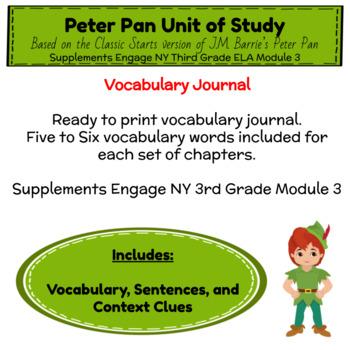 Engage NY Third Grade ELA Module 3 Vocabulary Journal