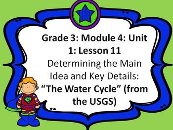 Third Grade ELA Module 4: Unit 1: Lesson 11