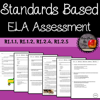 Third Grade ELA Standards Based Assessment Set 2