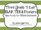 "Third Grade ELAR TEKS Posters, ""I Can"" Statements"