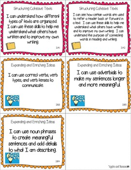 "Third Grade ELD ""I Can"" Posters and Statement Cards"