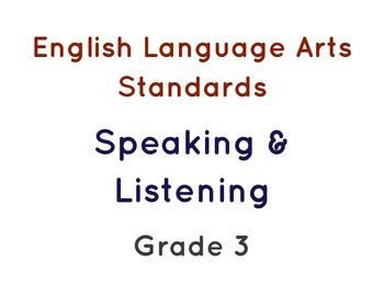 Third Grade ELL Language Targets