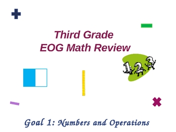 Third Grade EOG Math Review-- Goal 1