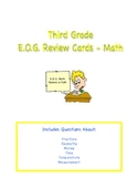 Third Grade E.O.G. Review Cards - Math