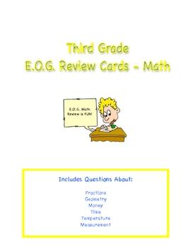 Third Grade E.O.G. Review Cards - Math