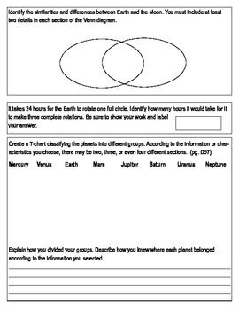 "Third Grade ""Earth in Space"" Common Core Science Study Guide"
