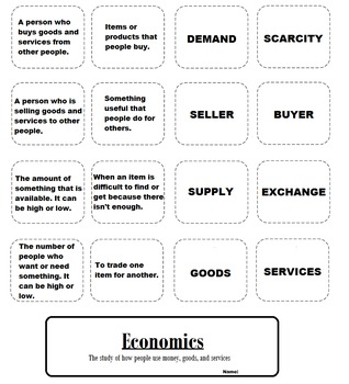 Third Grade Economics Flip Book