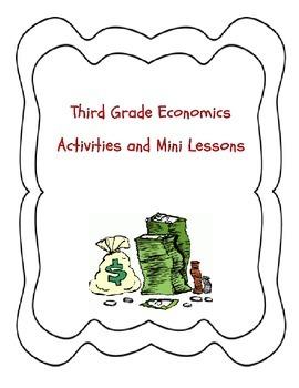 Third Grade Economics Unit ~ Lesson Plans, Activities, Min