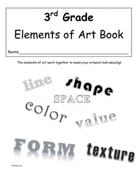 Third Grade Elements of Art Book