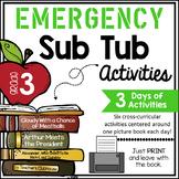 Third Grade Emergency Sub Activities Unit