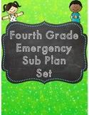 Fourth Grade Emergency Sub Plan Digital & Printable Set -