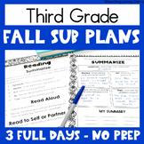 Sub Plans - Third Grade